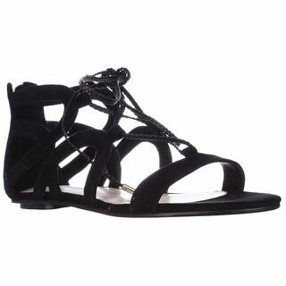 Marc Fisher Kapre Lace Up Gladiator Sandals - Black