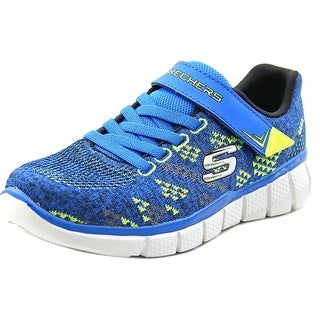 Skechers Equalizer 2.0-Point Keeper Youth Round Toe Canvas Blue Sneakers