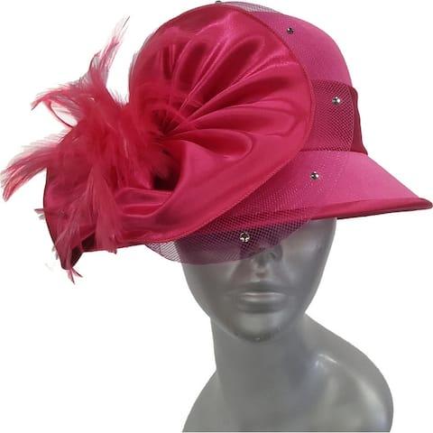 Women's dressy designer satin covered hat Easter Mothers Day