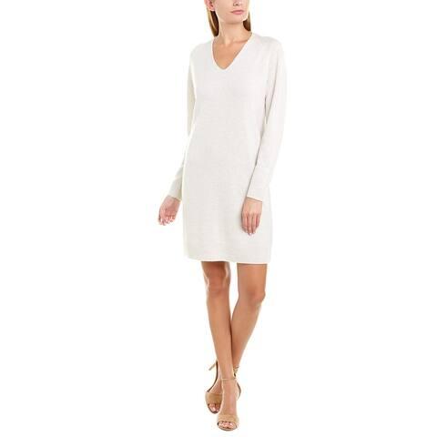 Vince Deep V Wool & Cashmere-Blend Sweaterdress