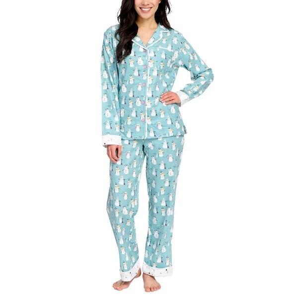 8e1f5bd44039c Shop Munki Munki Women 2-Piece PJ Flannel Pajama Sleep Set - Free ...
