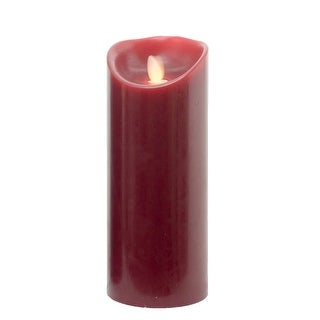 """Link to 8.75"""" Burgundy Essence Glow Battery Operated LED Flicker Flameless Pillar Candle Similar Items in Decorative Accessories"""