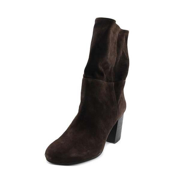 Eileen Fisher Cinch Women Round Toe Suede Brown Mid Calf Boot