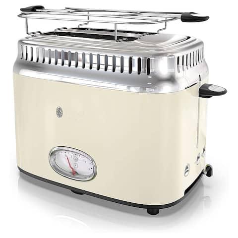 Russell Hobbs Retro Style 2 Slice Toaster in Cream
