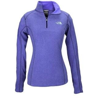 The North Face Women Glacier 1/4 Zip Fleece Purple/Purple/Turquoise