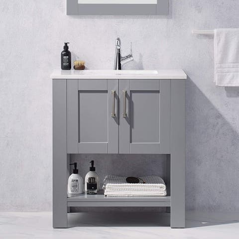 "30"" Solid Wood Construction Bathroom Sink Vanity"