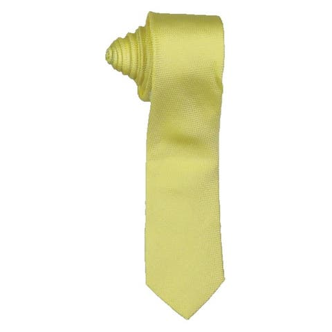 Calvin Klein Mens Pop Unsolid Solid Neck Tie Silk Business - O/S
