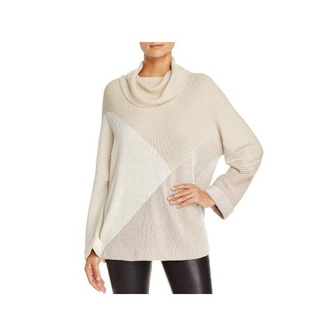 Nic + Zoe Womens Turtleneck Sweater Ribbed Cozy
