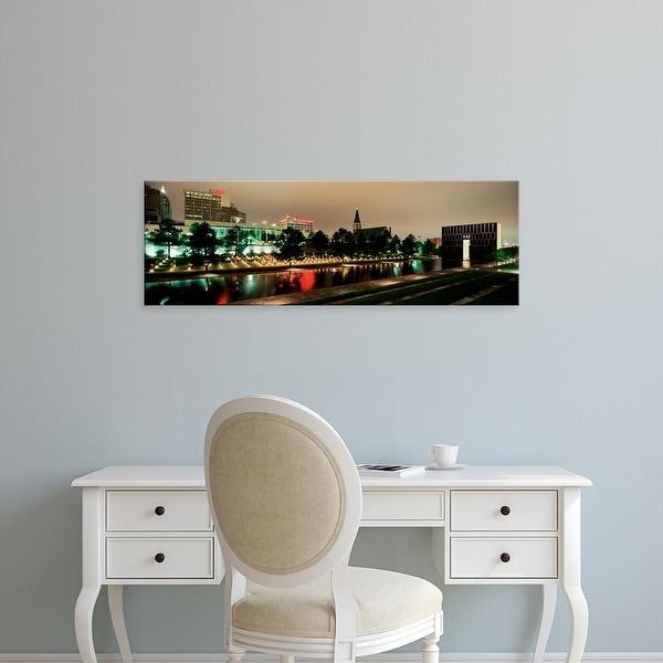 Easy Art Prints Panoramic Image 'Oklahoma City Memorial, Alfred P. Murrah Federal Building, Oklahoma City' Canvas Art