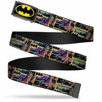 Batman Fcg Black Yellow Chrome Batman Dark Knight Comic Blocks Webbing Web Belt