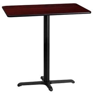 "Dyersburg 24'' x 42'' Rectangular Mahogany Laminate Table Top w/42"" High X-Base"