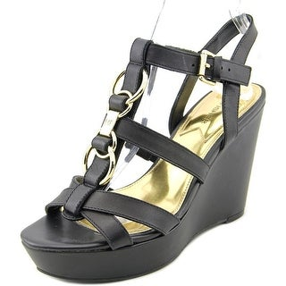 Marc Fisher Genny Women Open Toe Leather Wedge Sandal