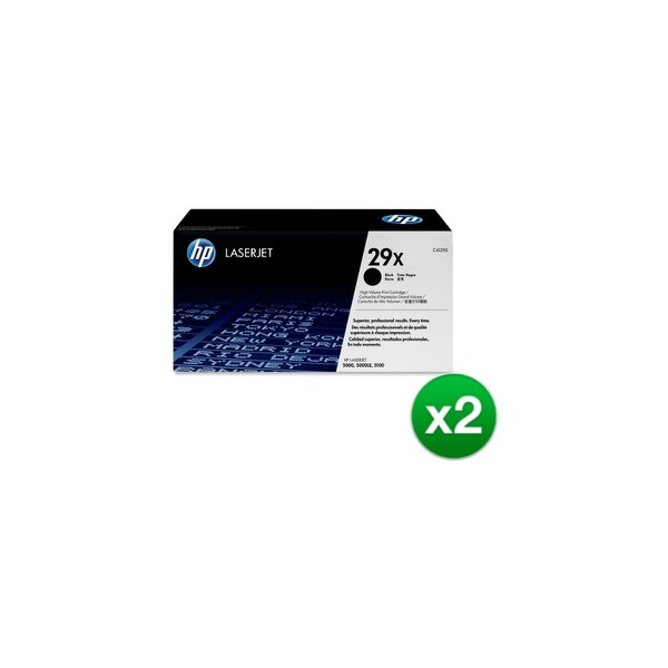 HP 29X High Yield Black Original LaserJet Toner Cartridge (C4129X) (2-Pack)