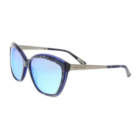Guess by Marciano GM0738 92X Navy/Silver Cat Eye Sunglasses - 59-15-135