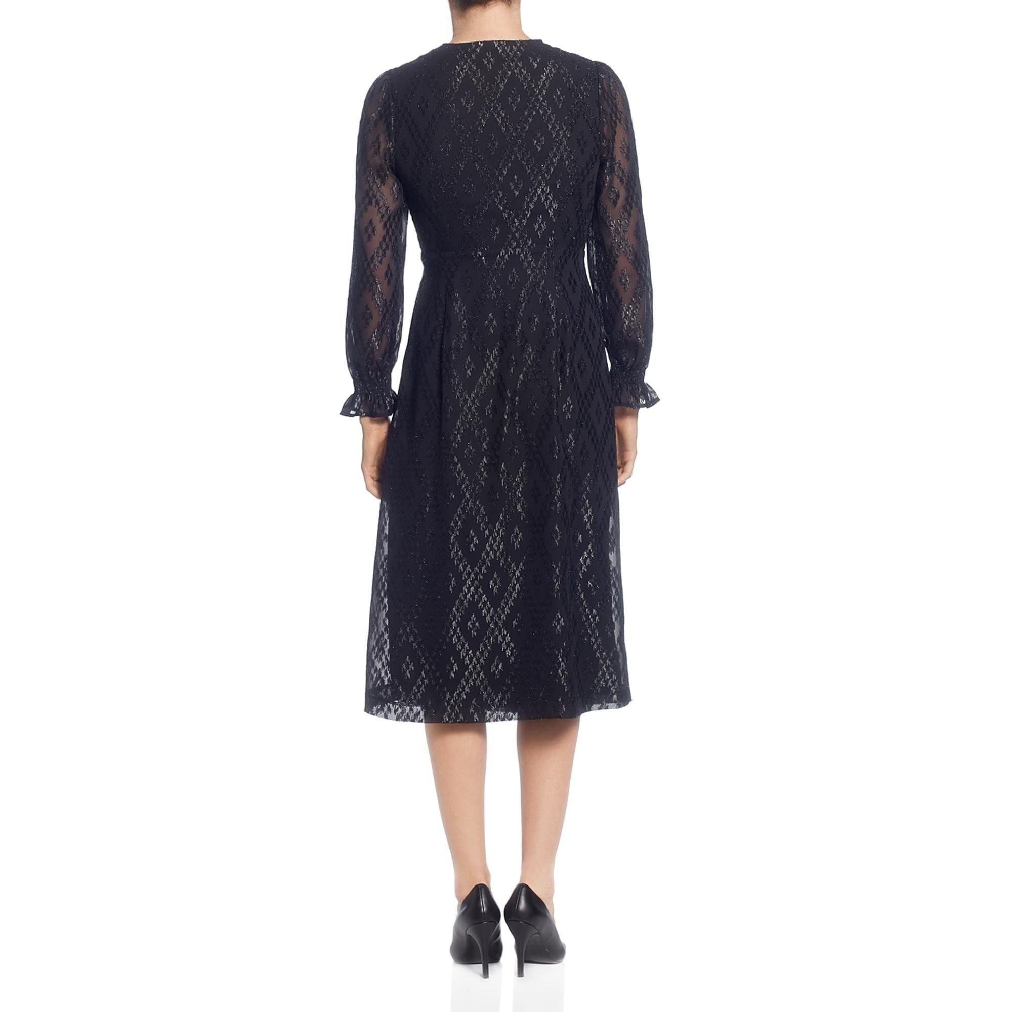T Tahari Womens Dotted Cap Sleeves Faux Wrap Dress BHFO 9015