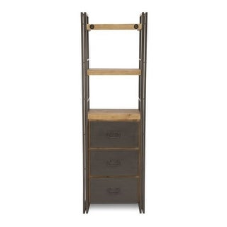 """Moes Home Collection WN-1010 Brooklyn 24"""" Wide Shelving Unit - Dark brown"""