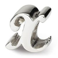 Sterling Silver Reflections Letter X Script Bead (4mm Diameter Hole)