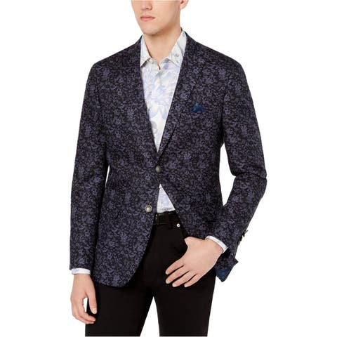 Tallia Mens Modern-Fit Two Button Blazer Jacket
