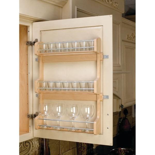 "Rev-A-Shelf 4SR-21 4SR Series Door Mount Spice Rack for 21"" Wall Cabinet - Natural Wood - N/A"
