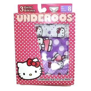 Fruit Of The Loom 3 Pack Hello Kitty Toddler Girls' Bikini Underwear Cotton 8