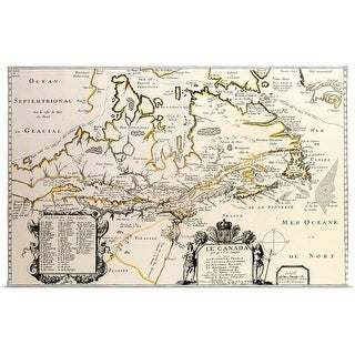 """""""Map of Canada"""" Poster Print"""