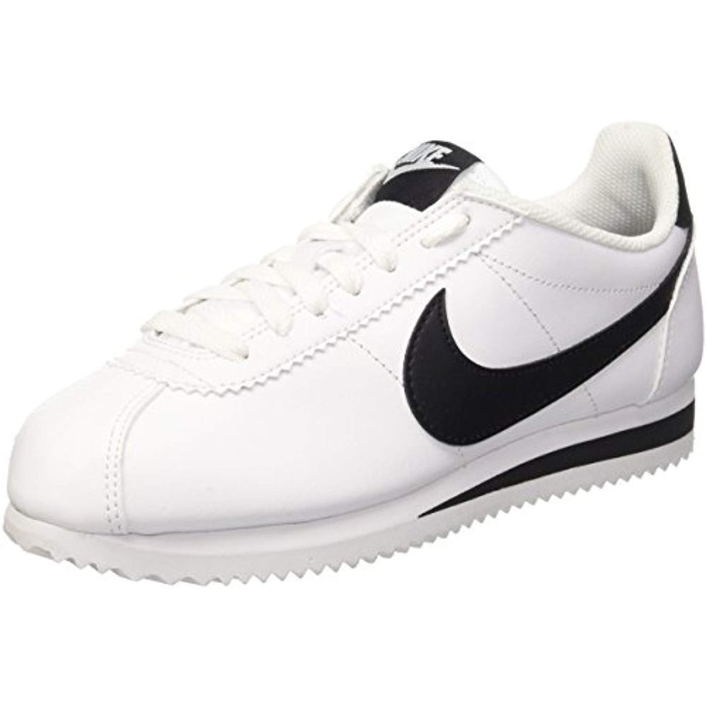 Nike Womens Classic Cortez Leather WhiteBlackWhite Casual Shoe 8.5 Women US