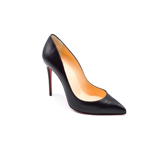 843486c6ca1 Shop Christian Louboutin Pigalle Follies Nappa Black Pumps Size 38   8 -  Free Shipping Today - Overstock.com - 14220600
