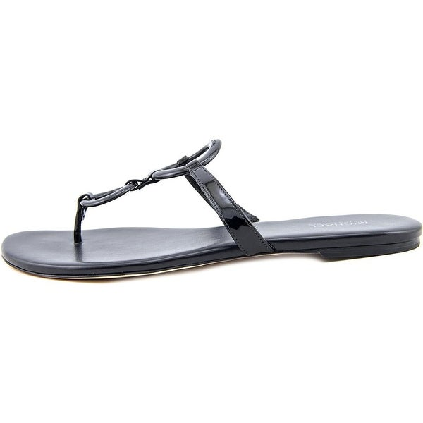 25877d34d Michael Michael Kors Claudia Flat Sandal Women Open Toe Black Thong Sandal  - Free Shipping On Orders Over  45 - Overstock.com - 21037778