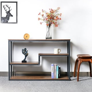 "Link to 3-Tier 53"" Wide Narrow Console Table Bookshelf Storage Rack Shelf Similar Items in Living Room Furniture"