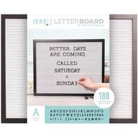 """Dcwv Framed Letterboard 20""""X16""""-Black W/White Insert"""