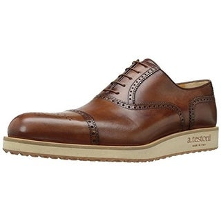 A. Testoni Mens Leather Lace Up Oxfords