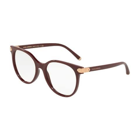 Dolce & Gabbana DG5032 Women's Bordeaux Frame Demo Lens Eyeglasses