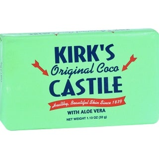 Kirks Natural Bar Soap - Coco Castile - Aloe Vera - Travel Size - 1.13 oz