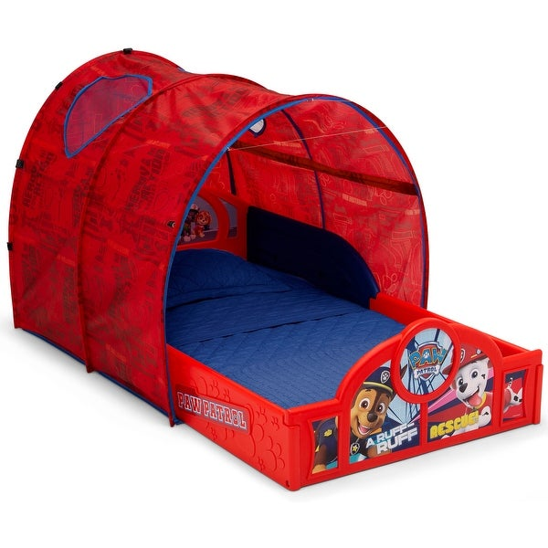 Nick Jr. PAW Patrol Sleep and Play Toddler Bed with Tent by Delta Children. Opens flyout.