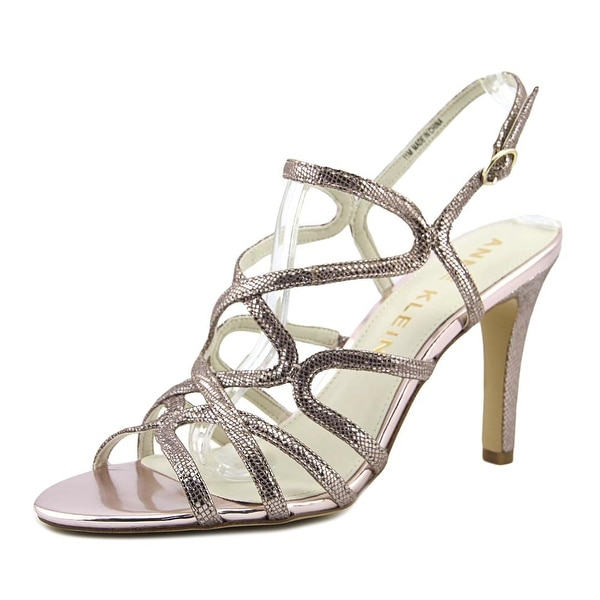 Anne Klein Insists Women Open-Toe Leather Pink Slingback Sandal