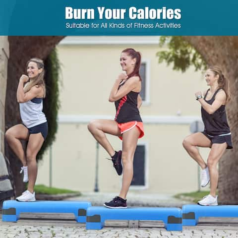Costway 26'' Aerobic Exercise Stepper Cardio Trainer W/Riser