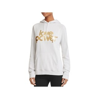 Life Nature Love Womens Juniors Hoodie Graphic Foiled