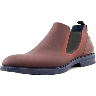 iSHU+ Var-J1 Men  Round Toe Synthetic Burgundy Boot