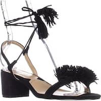 Adrienne Vittadini Alen Lace-up Dress Heeled Sandals, Black