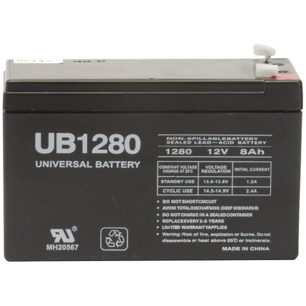 Upg 85986/D5743 Sealed Lead Acid Batteries (12V; 8Ah; .187 Tab Terminals; Ub1280)