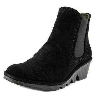 Fly London Phil Women Round Toe Suede Black Bootie