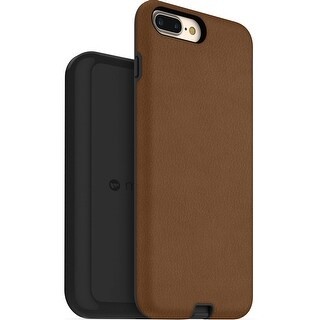 Mophie Charge Force Case & Wireless Charging Base for iPhone 7 Plus & iPhone 8 Plus - Tan - Brown