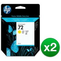 HP 72 69-ml Yellow DesignJet Ink Cartridge (C9400A) (2-Pack)