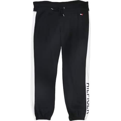 Tommy Hilfiger Womens Colorblock Logo Athletic Sweatpants