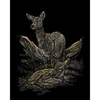 "Deer - Gold Foil Engraving Art Kit 8""X10"""