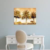 Easy Art Prints Skip Nall's 'Palms on Brown II' Premium Canvas Art