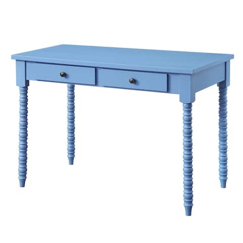 ACME Altmar Writing Desk in Blue Finish