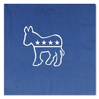 Club Pack of 192 Blue and White Democratic 2-Ply Luncheon Napkins