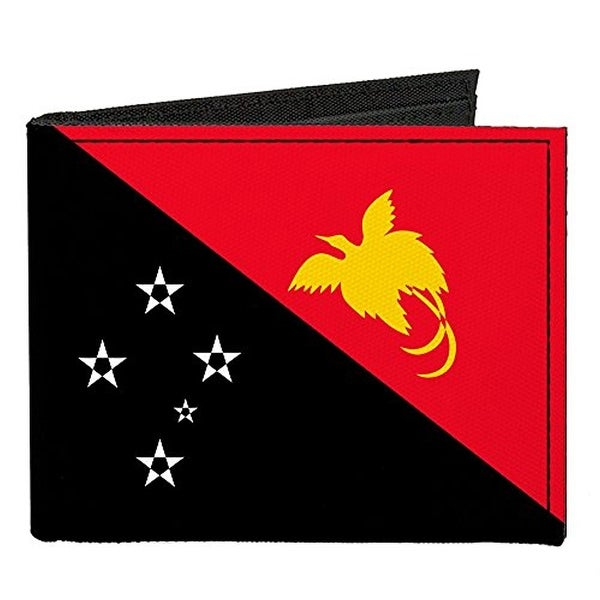 Buckle-Down Canvas Bi-fold Wallet - Papua New Guinea Flag Accessory