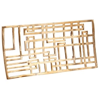 """Cyan Design Large Circuit Board Tray  Circuit Board 20.75"""" Wide Aluminum Tray Made in India - Antique Brass"""